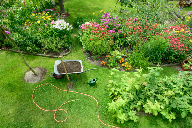 Garden Garden - elevated view grounds stock pictures, royalty-free photos & images