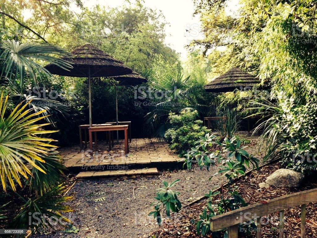 Garden place stock photo