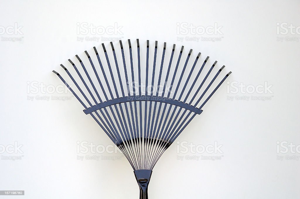 Garden Rake Isolated on White royalty-free stock photo