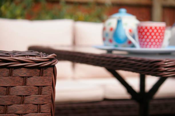Garden relaxtion stock photo