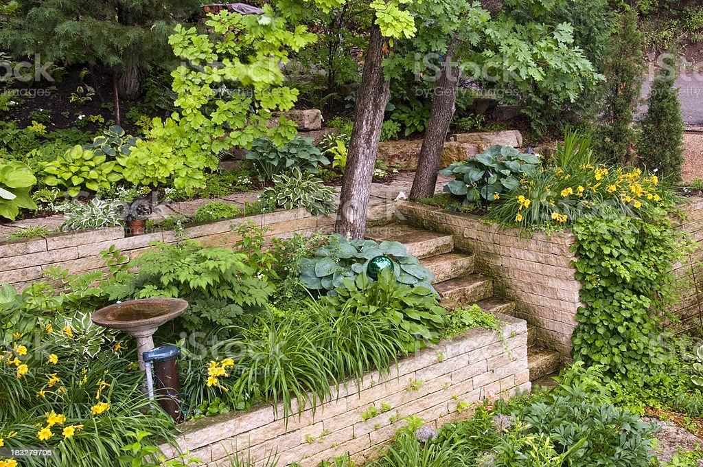 Garden Retaining Walls royalty-free stock photo