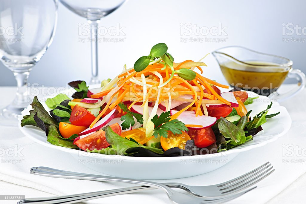 Garden salad royalty-free stock photo