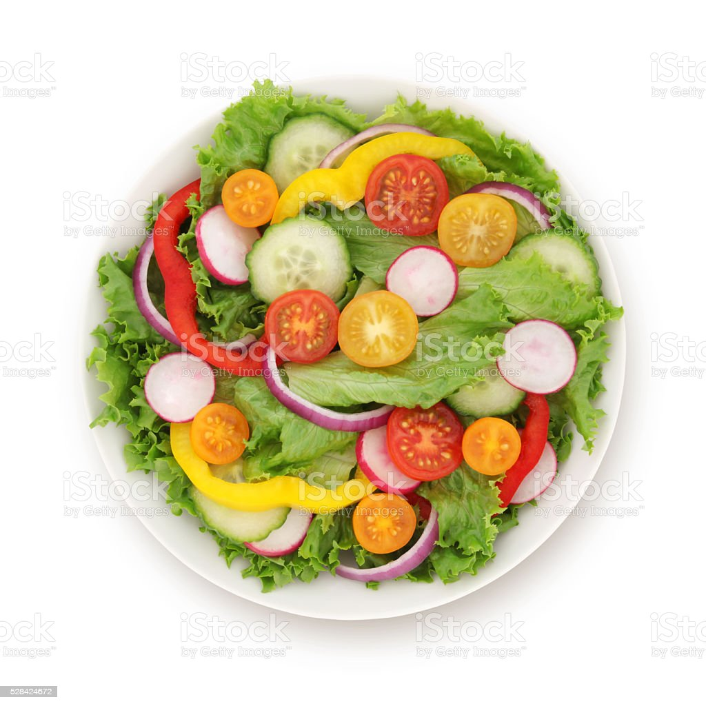 Garden Salad (with path) stock photo