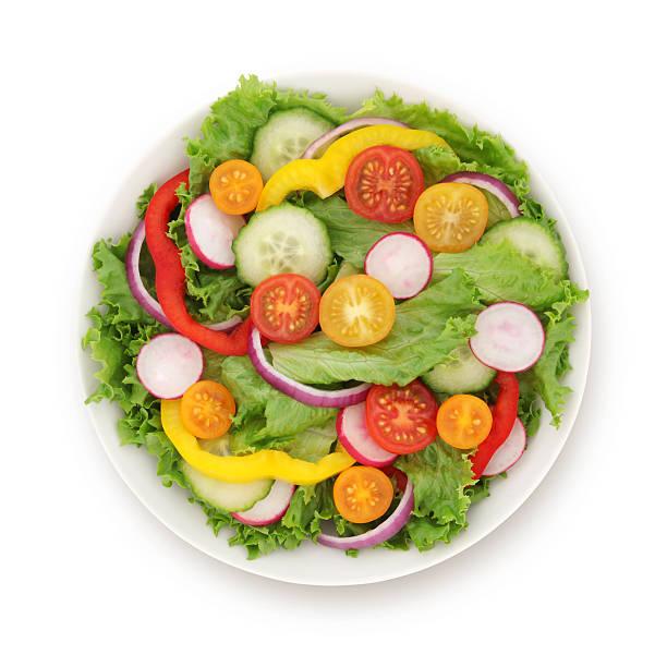 salade du jardin (avec path - saladier photos et images de collection