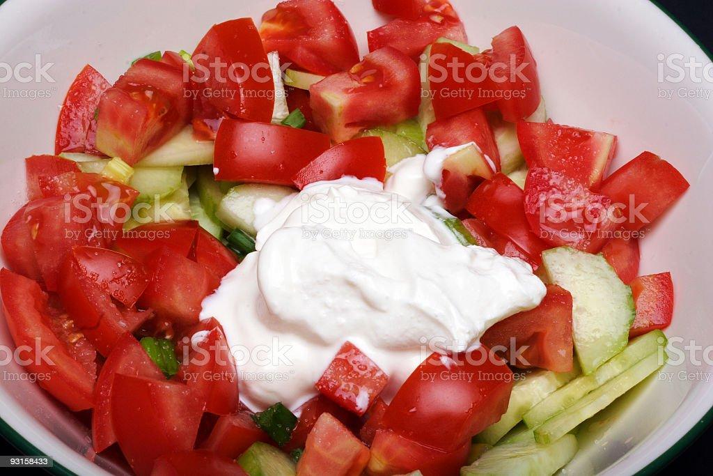 garden salad stock photo