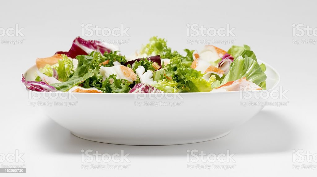 Garden Salad with Lobster royalty-free stock photo