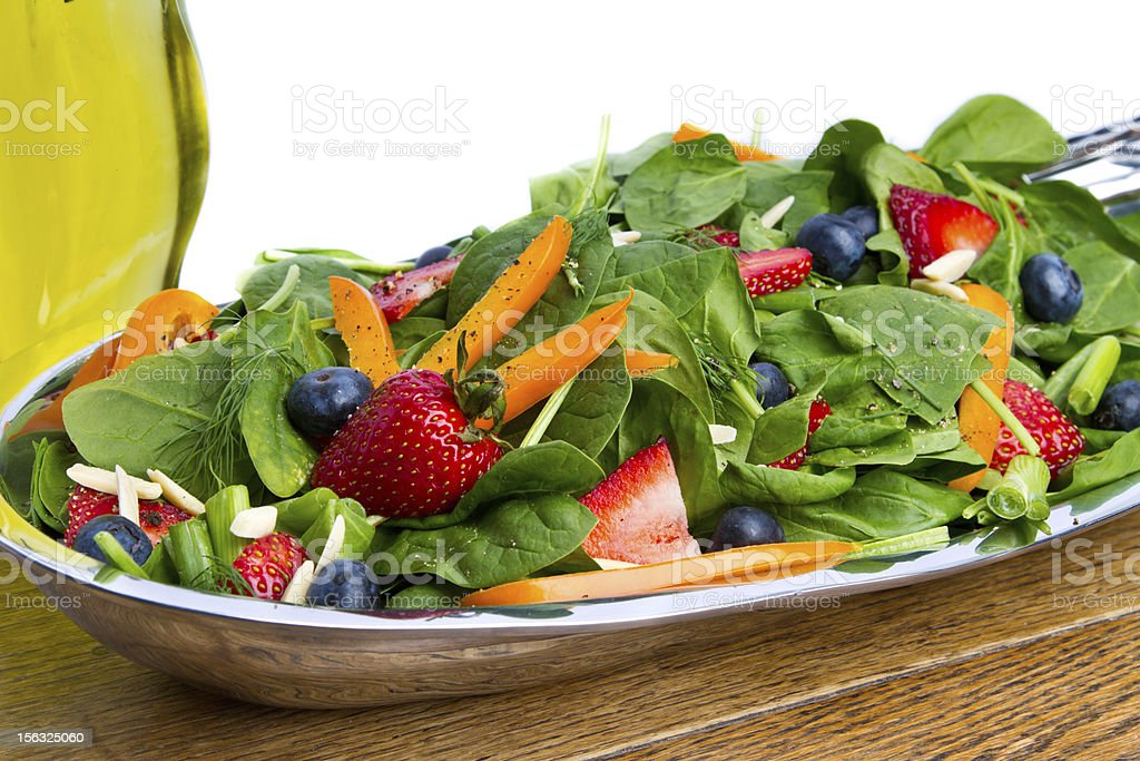 Garden Salad with Strawberries and Blueberries royalty-free stock photo