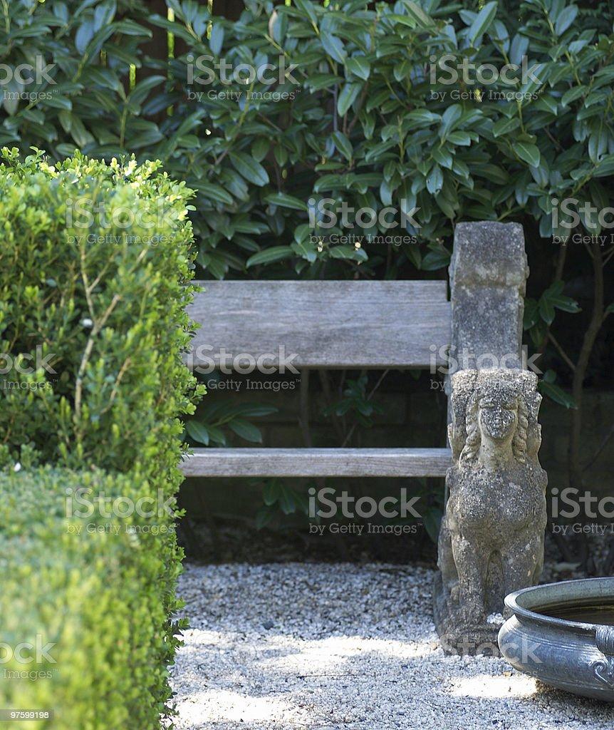 Garden seat royaltyfri bildbanksbilder