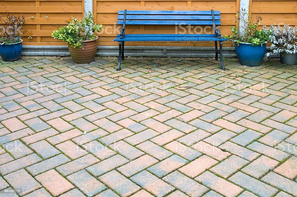 Garden seat royalty-free stock photo