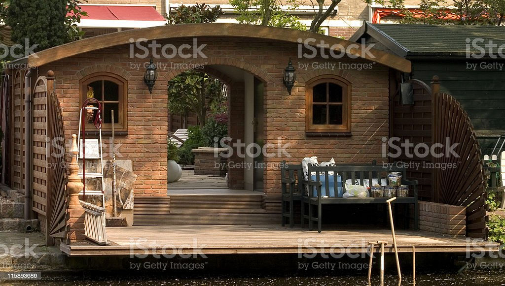 Garden shed royalty-free stock photo