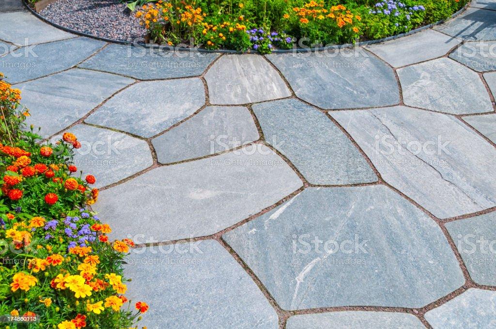 Garden slates stock photo