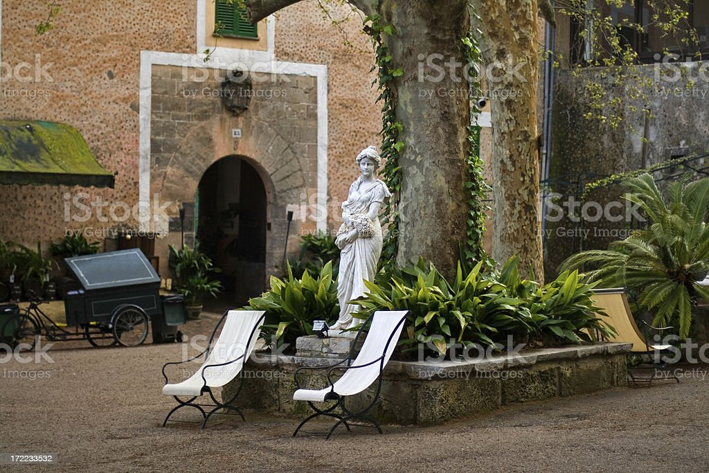 garden statue in spain royalty-free stock photo