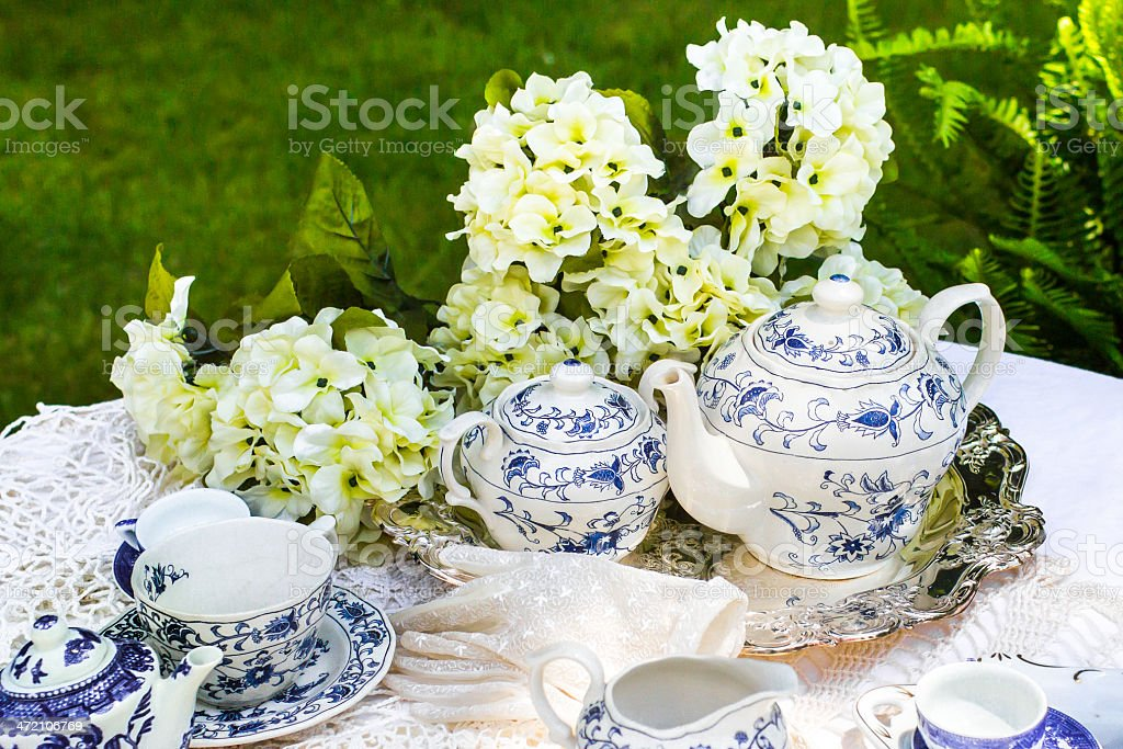 Garden Tea Party stock photo