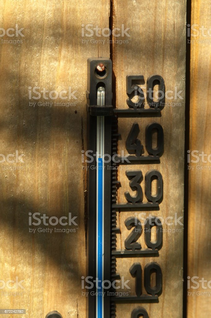 Garden Thermometer Indicating 40 Degrees Celsius Royalty Free Stock Photo