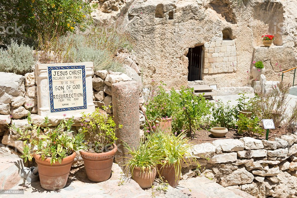 Garden Tomb in Jerusalem stock photo