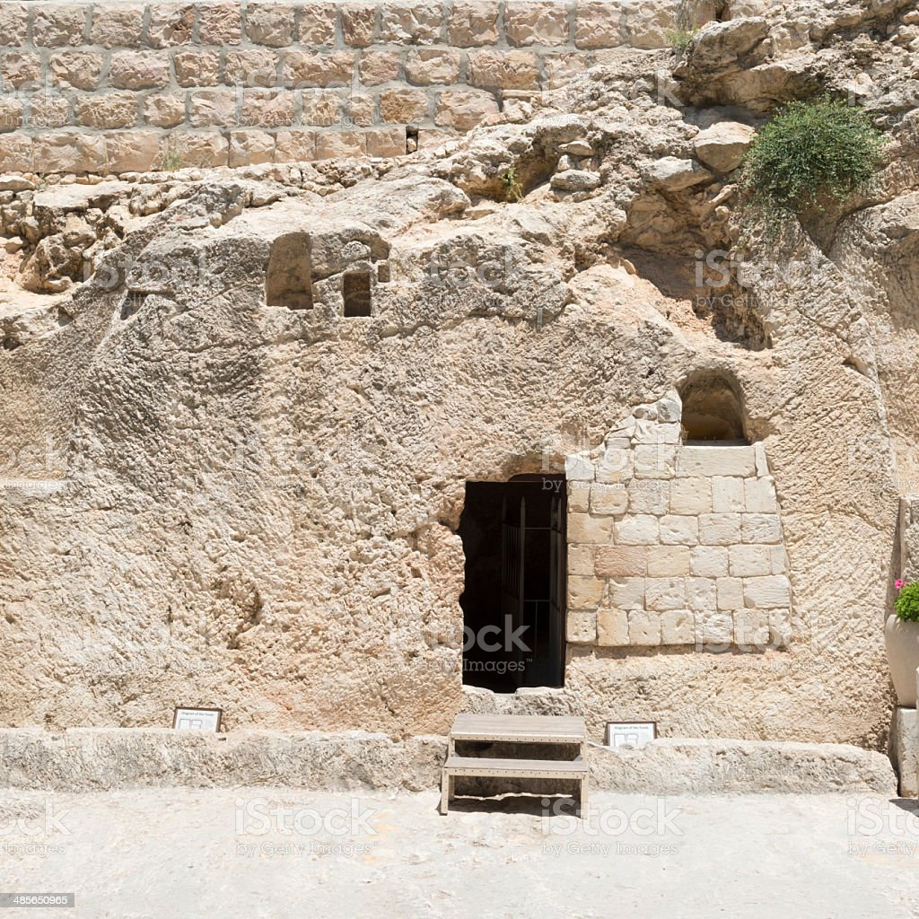 Garden Tomb in Jerusalem stock photo