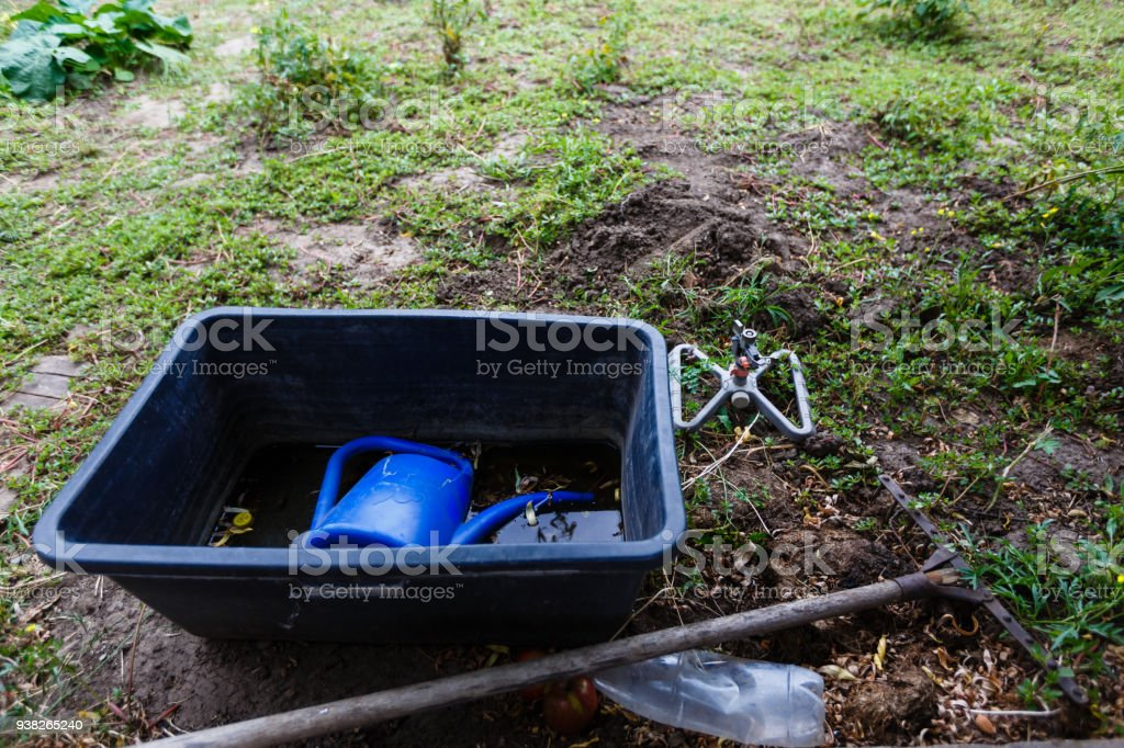garden tools, gardening stock photo