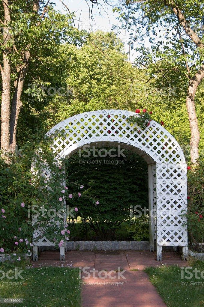Garden trellis (REQUEST) royalty-free stock photo