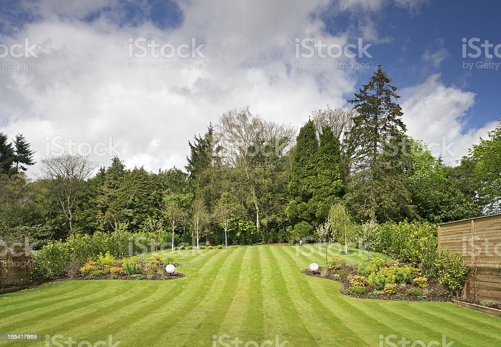 garden view stock photo