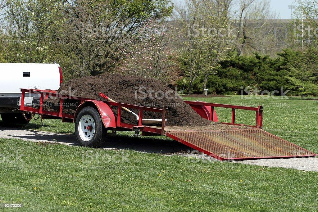Garden Wagon royalty-free stock photo