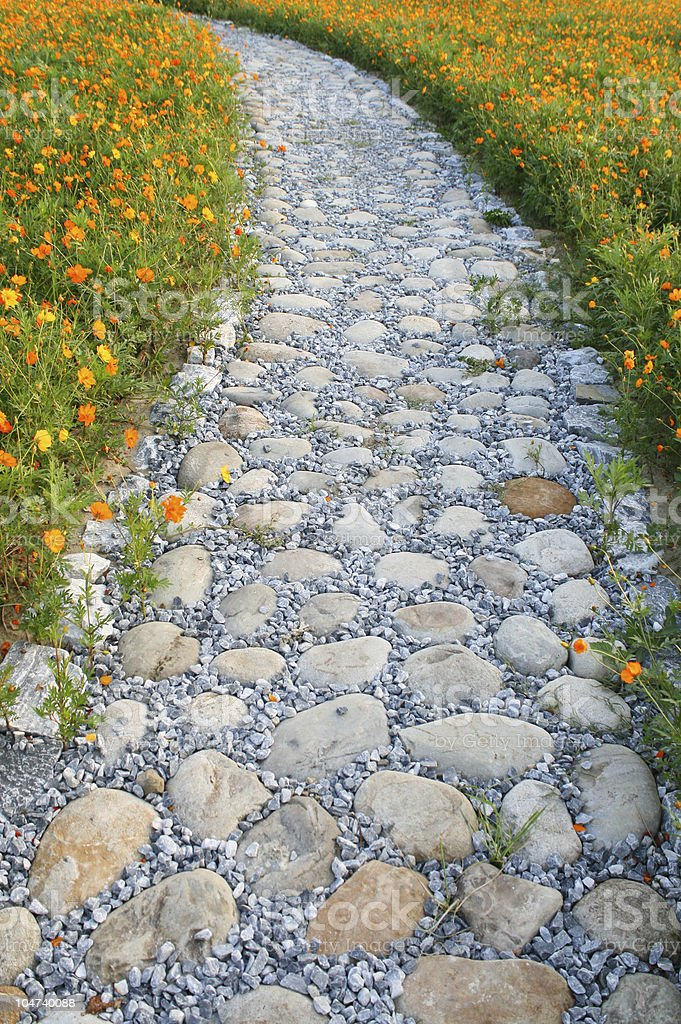 Garden Walkway royalty-free stock photo