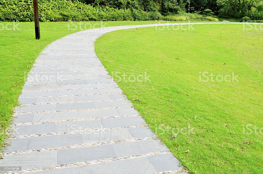 Garden Walkway stock photo
