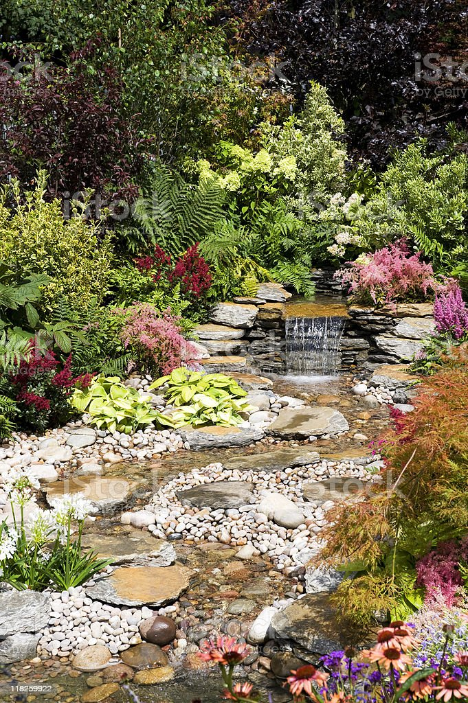 Garden Water Feature stock photo