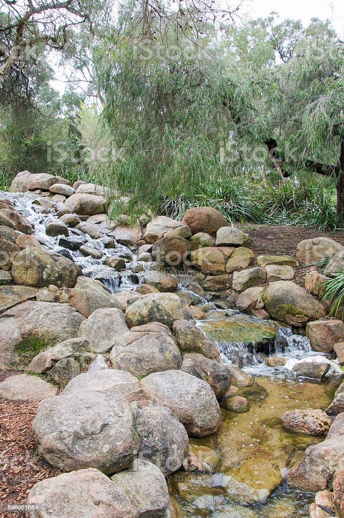 Garden Waterfall royalty-free stock photo