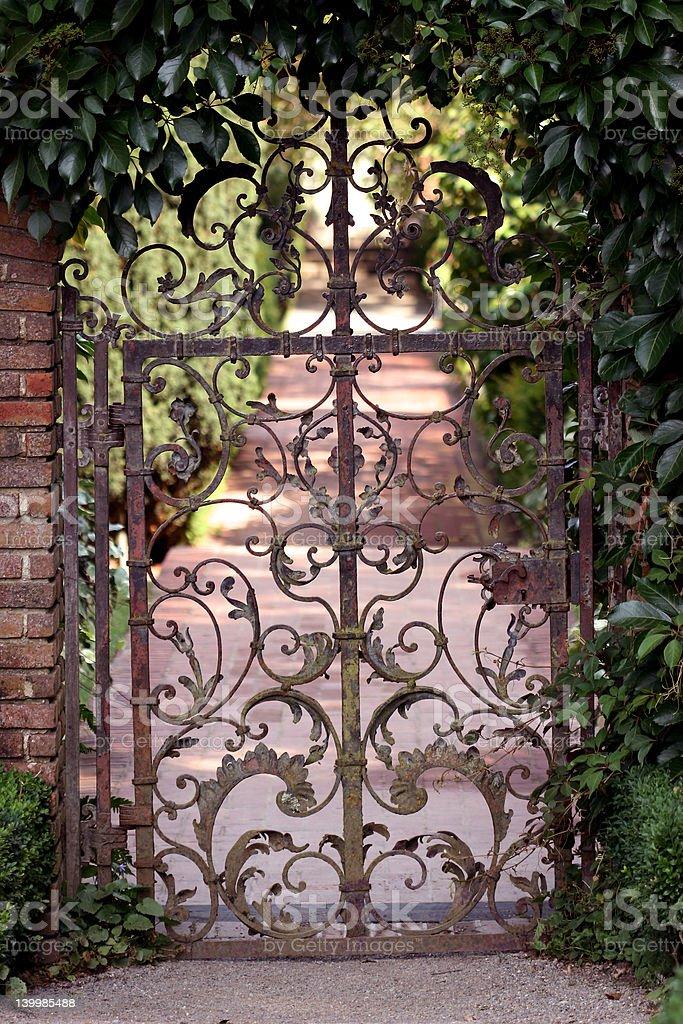 Garden_Gate stock photo