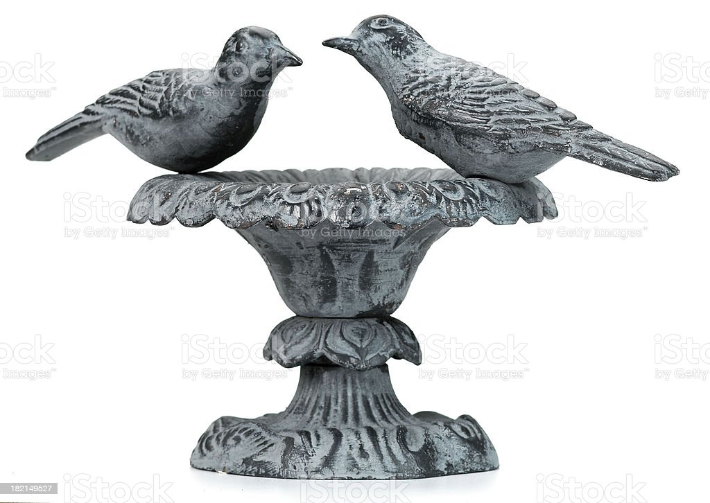 Garden-Bird Bath stock photo