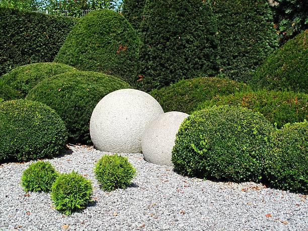 gardendesign - gartenkies stock-fotos und bilder