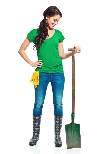 Gardener With Spade Stock Photo - Download Image Now