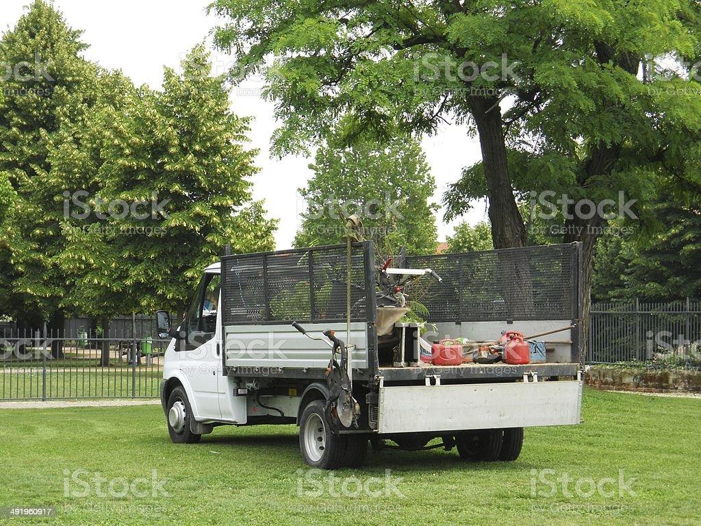 Gardener's truck stock photo