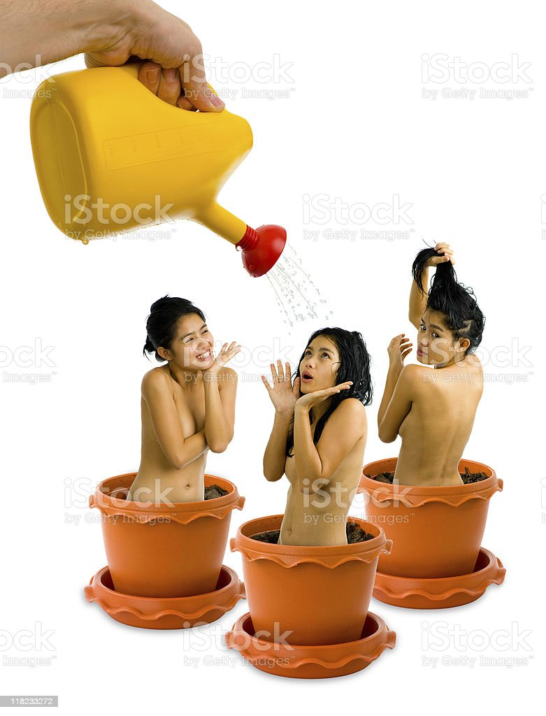 gardening addiction - growing women royalty-free stock photo