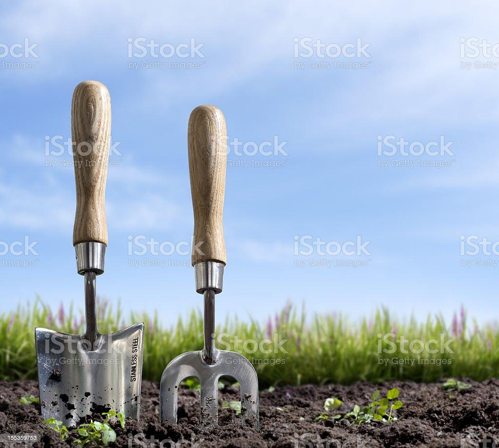 Gardening at Springtime stock photo