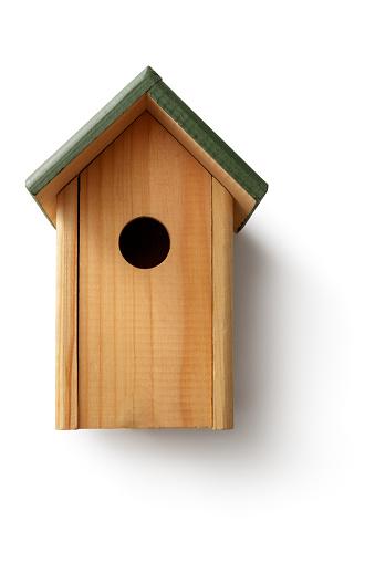 Gardening: Bird House Isolated on White Background