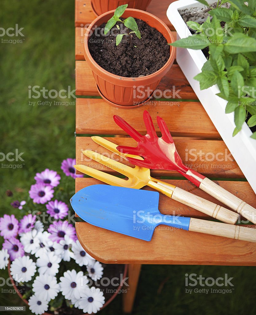 Gardening equipment royalty-free stock photo