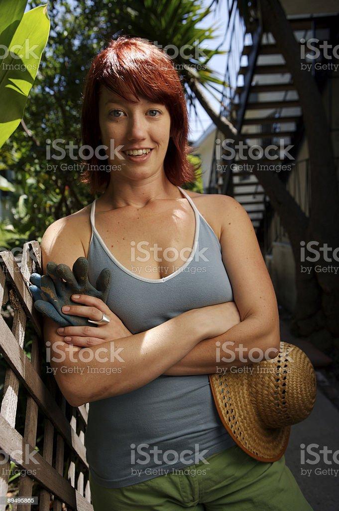 Gardening Girl royalty free stockfoto