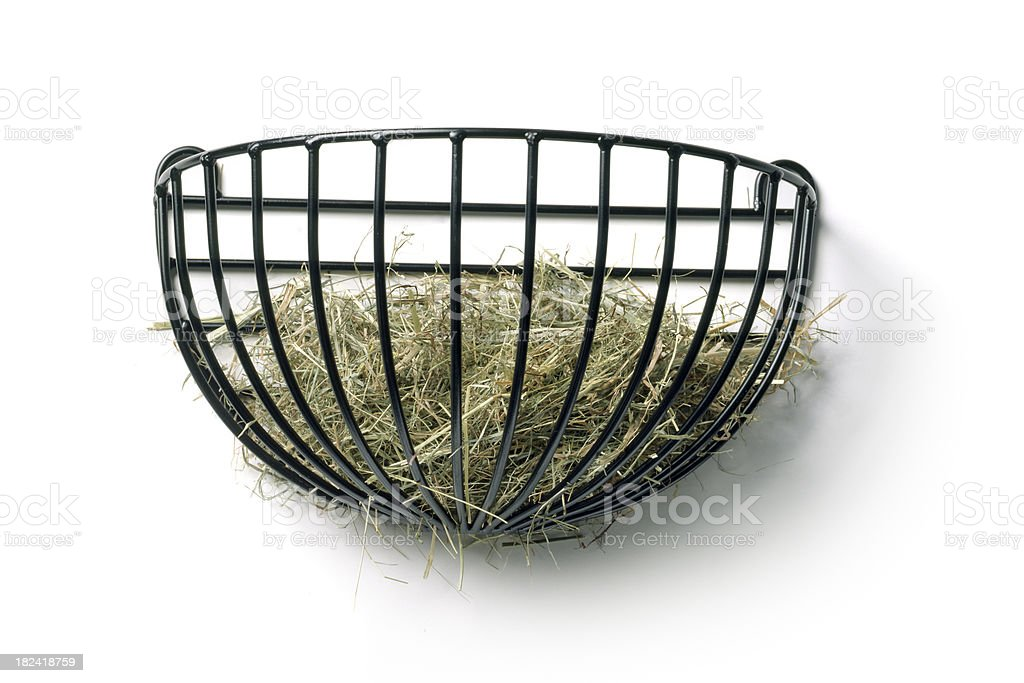 Gardening: Hay Wall Feeder royalty-free stock photo