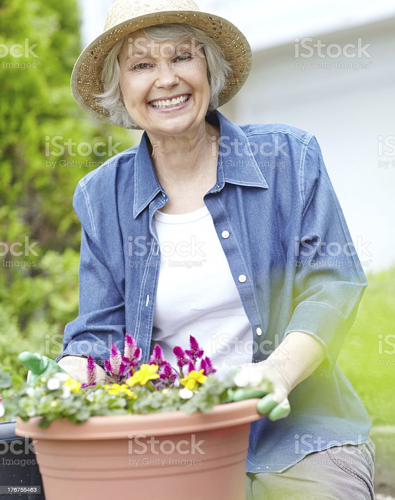 Gardening is my passion royalty-free stock photo