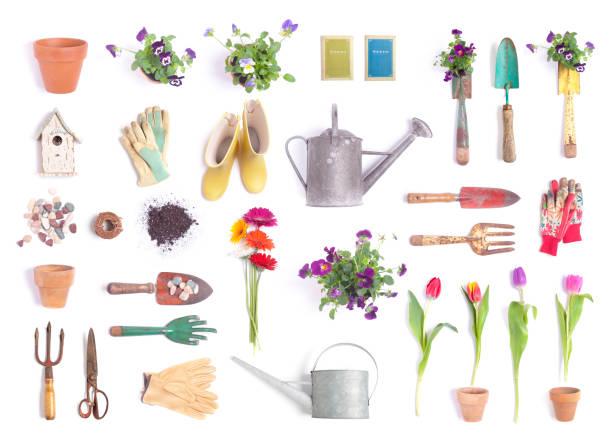 Gartenobjekte Hintergründe isoliert – Foto