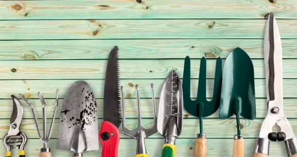 gardening. - tools imagens e fotografias de stock