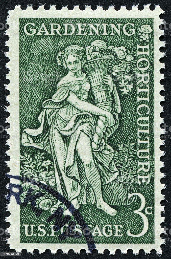 Gardening Stamp royalty-free stock photo