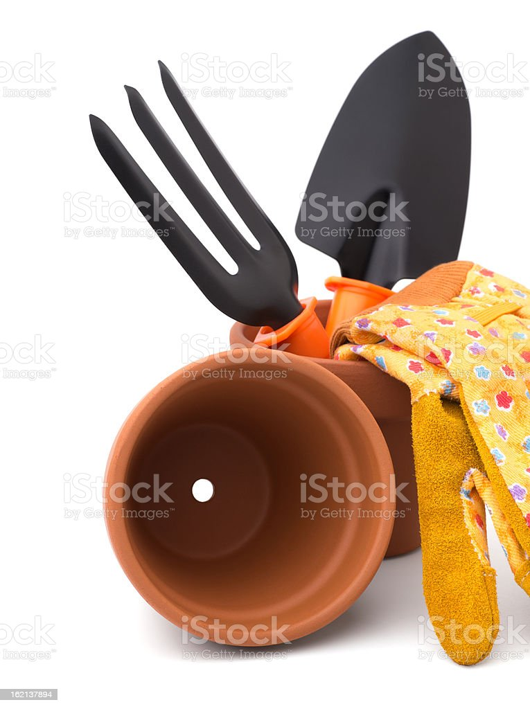 Gardening tools and accessories royalty-free stock photo