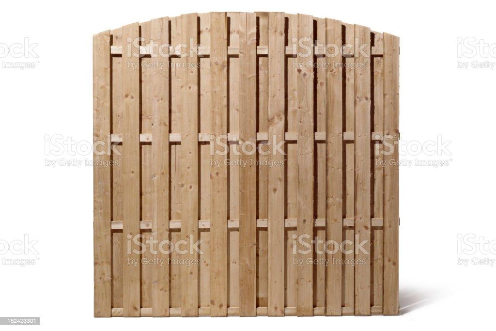 Gardening: Wood Fence royalty-free stock photo