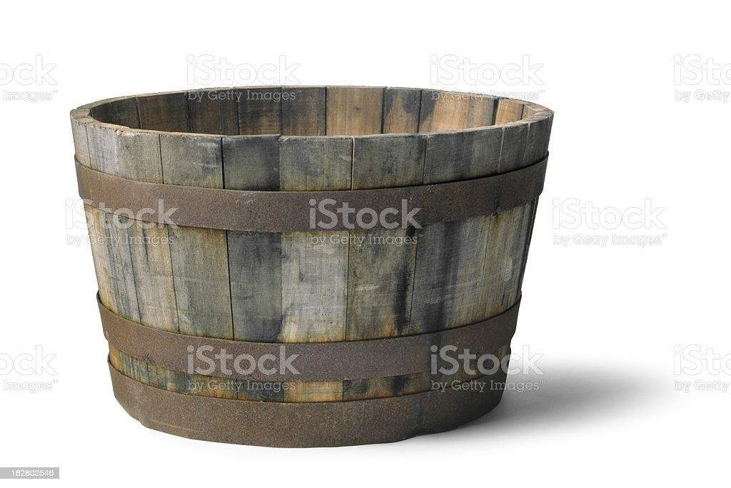 Gardening: Wooden Bucket royalty-free stock photo