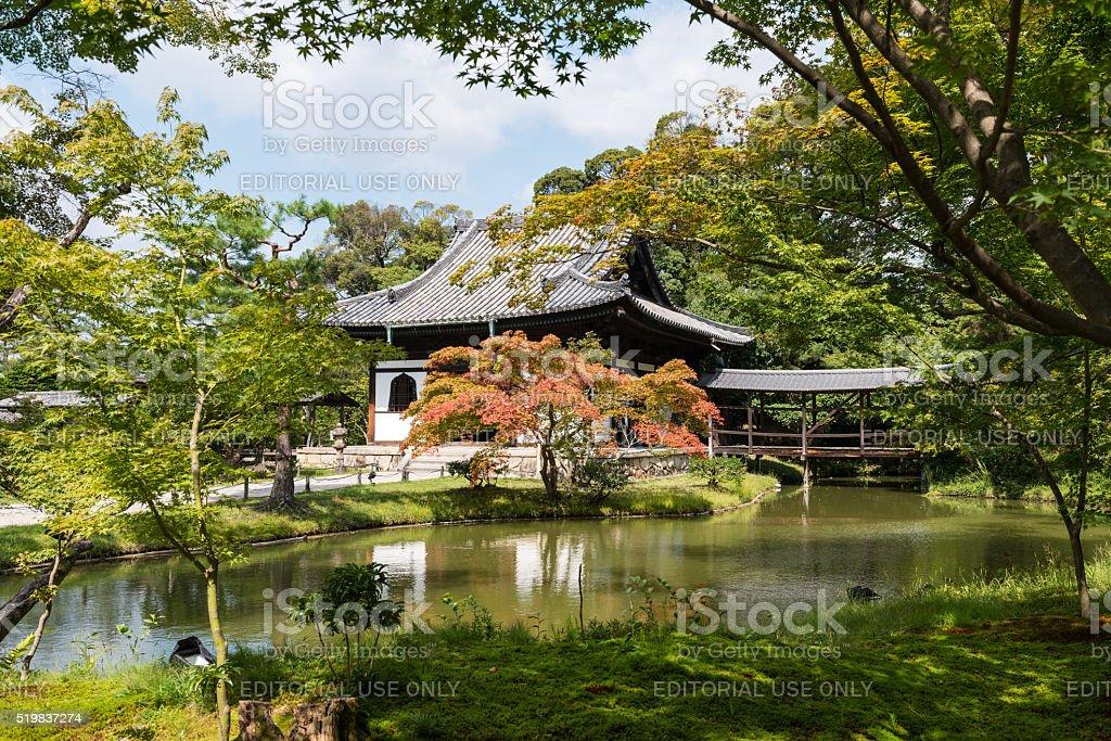 Gardens and pavilions in Kodai-ji temple, Kyoto stock photo