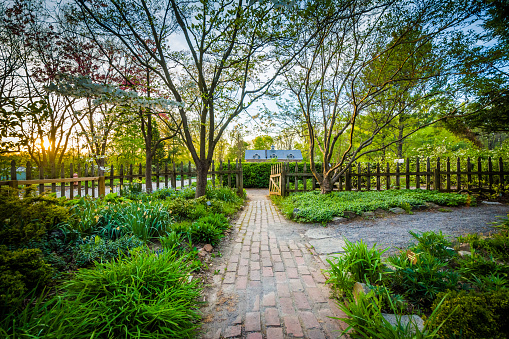 Gardens at Cylburn Arboretum, in Baltimore, Maryland