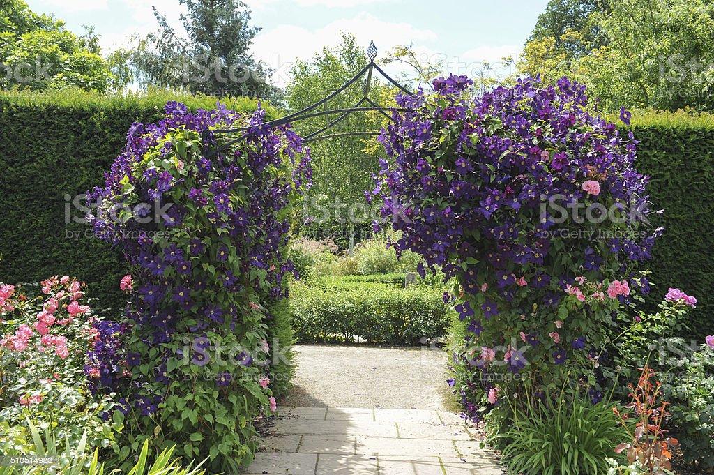 Gardens at Rosemore, Torrington, in Devon, England, UK stock photo