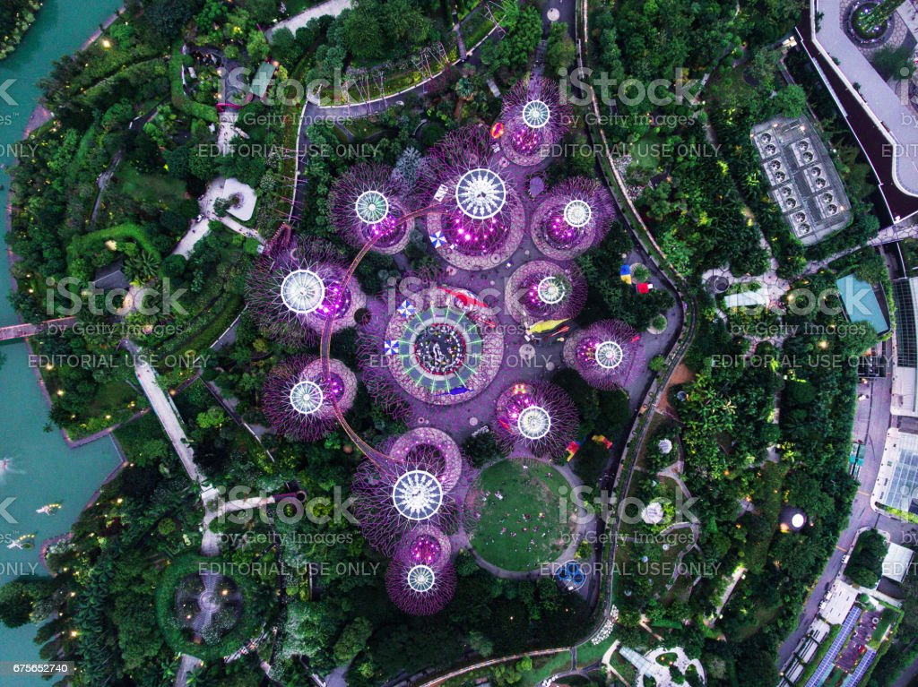 Gardens by the Bay in Singapore royalty-free stock photo